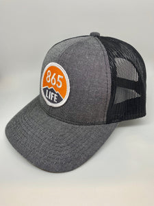 Trucker Black/Black Mesh Hat + Logo Patch