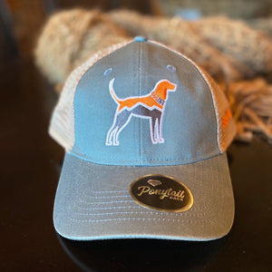 Structured Ponytail Mesh Hat + Hound Dog