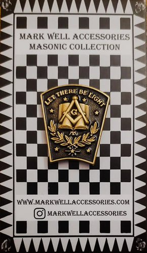 Masonic Let There Be Light Keystone Lapel Pin Masonic Pin
