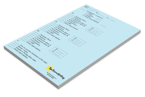 Sticky Note Scoring and Feedback Sheets Blue Opinion