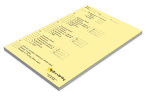 Sticky Note Scoring and Feedback Sheets Yellow Informative