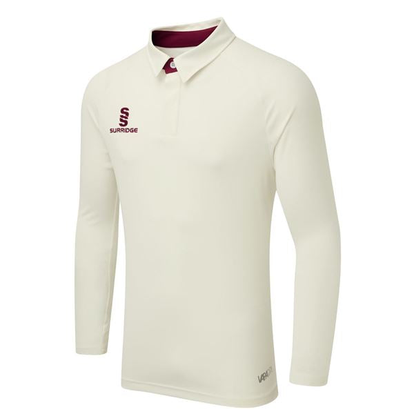 Surridge Tek Long Sleeved Playing Shirt - Maroon