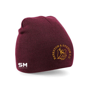 Barkston & Syston Cricket Club Beanie