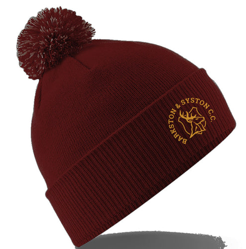 Barkston & Syston Cricket Club Bobble Hat
