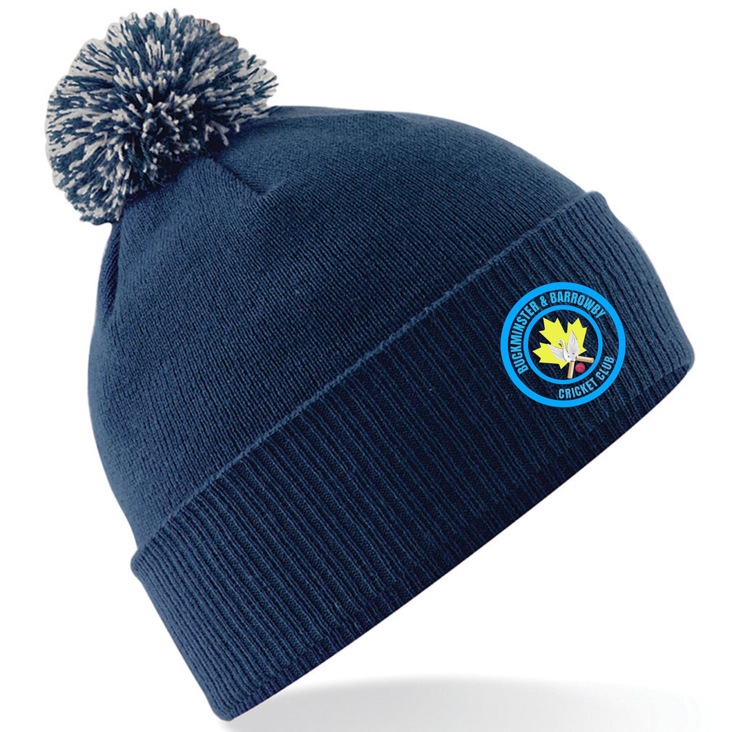 Buckminster & Barrowby Cricket Club Bobble Hat