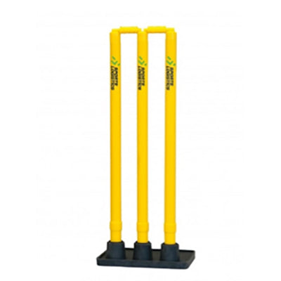 Yellow Plastic Stumps with Heavy Black base