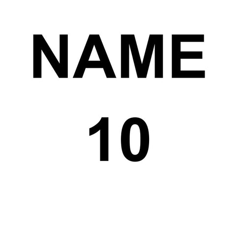 Name & Number on Playing Shirt