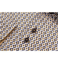 Load image into Gallery viewer, Guide London Navy / Tan Geometric Print Shirt - LS.75140
