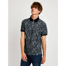 Pretty Green Black Paisley Print Polo T-Shirt - A9GMU14000084