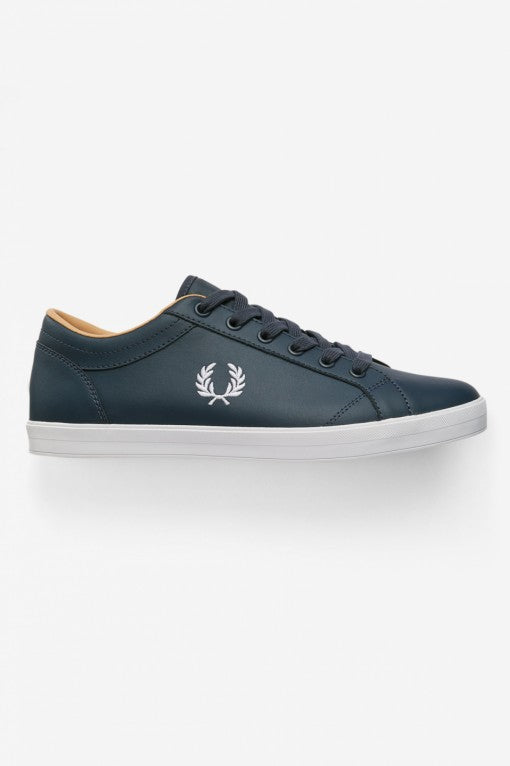 Fred Perry Trainers - Baseline Leather - Black - B6158 - 102