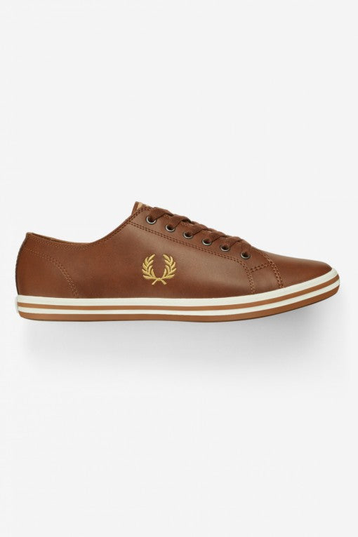 Fred Perry Trainers - Kingston - Tan Leather - B7163U - 448