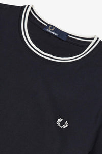 Fred Perry Navy Twin Tipped T-Shirt - M1588 - 795
