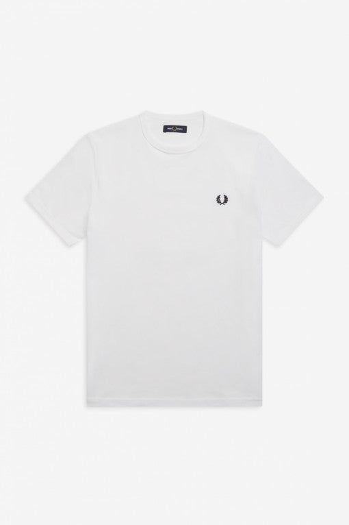 Fred Perry - White T/Shirt - Ringer - M3519 - 100