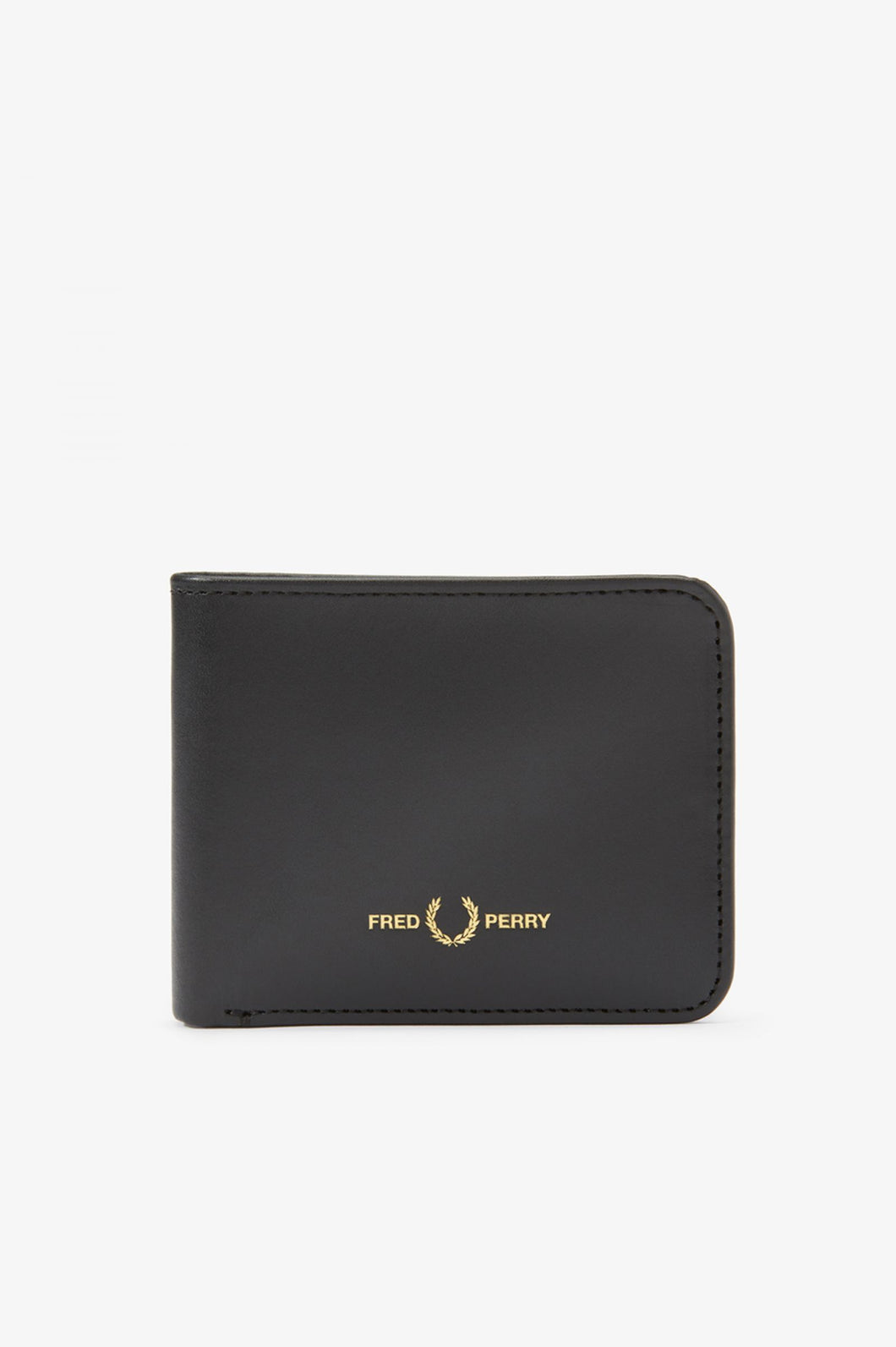 Fred Perry Black Graphic Leather Billfold Wallet L8278 - 102