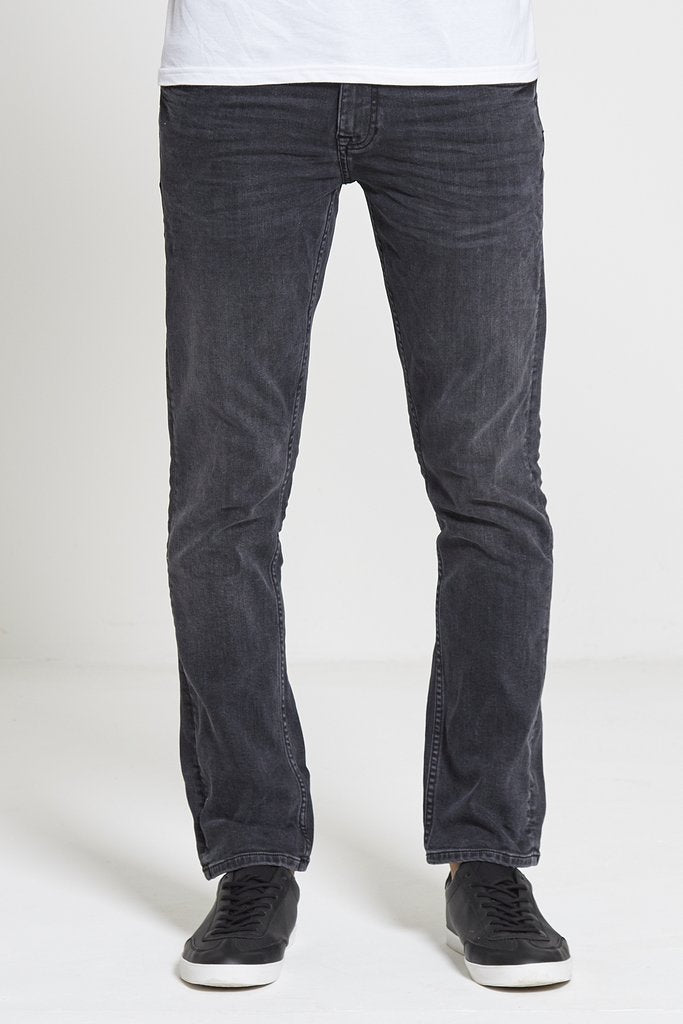 DML Maverick Slim Straight Stretch Jean - Charcoal