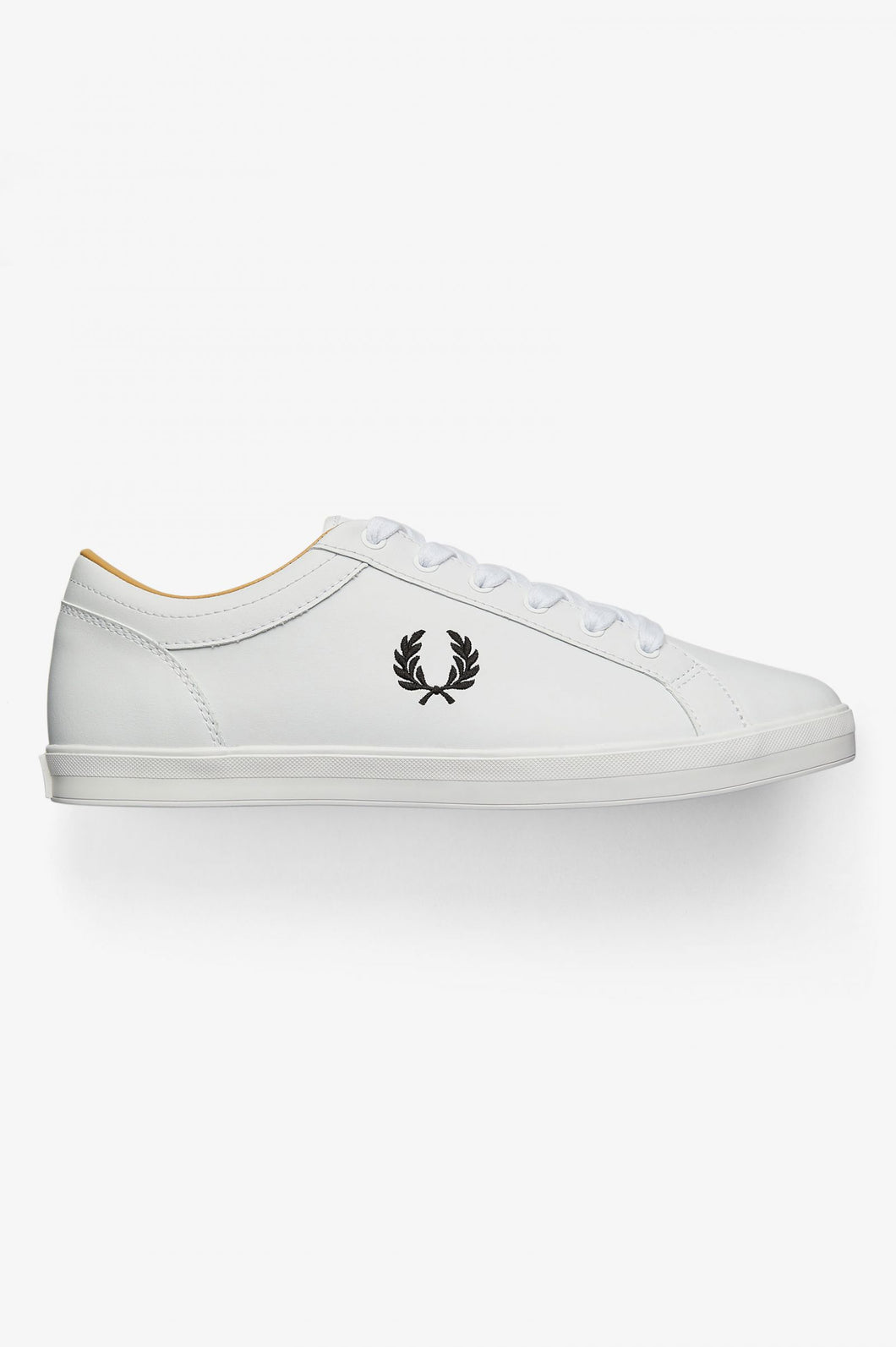 Fred Perry Trainers - Baseline Leather - White - B6158 - 100