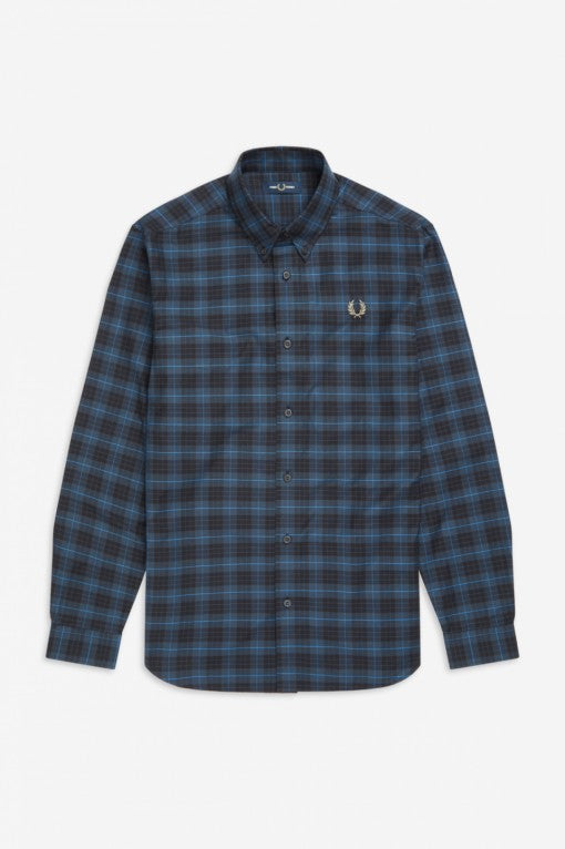 Fred Perry Midnight Blue Tartan Shirt M7557 - 963