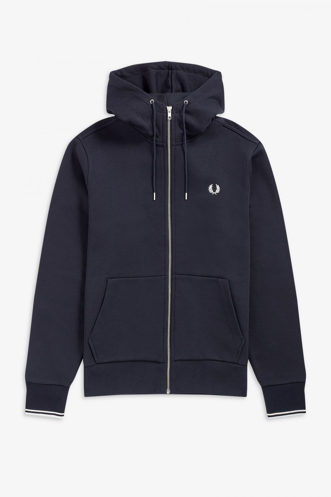 Fred Perry Navy Hooded Zip Through Sweatshirt - J7536 - 795
