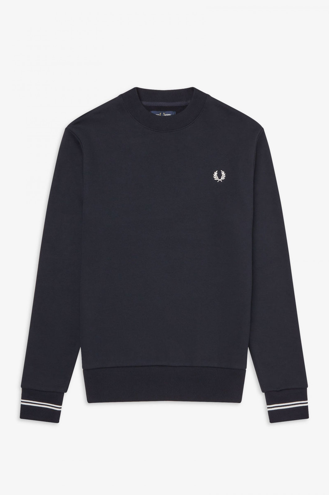 Fred Perry Navy Crew Neck Sweatshirt - M7535 - 248
