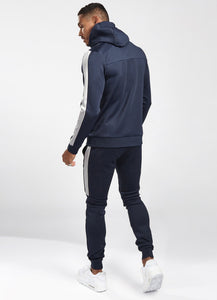 Gym King Navy Koen Poly Tracksuit Top - TST-C22FR