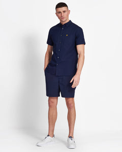 Lyle & Scott Navy Short Sleeve Oxford Shirt - SW1208V - Z99