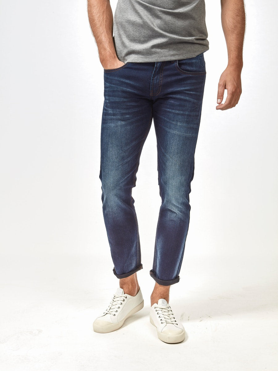 Mish Mash 1984 Mallory Blue Black Tapered Fit Jean