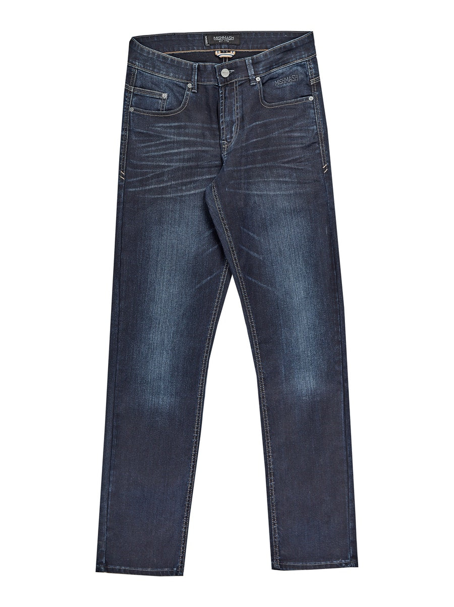 Mish Mash Navy Resin Mallory Jean 1984 Tapered Fit