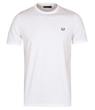 Load image into Gallery viewer, Fred Perry - White T/Shirt - Ringer - M3519 - 100