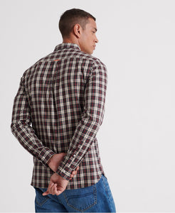 Superdry Black Check Classic London Long Sleeved Shirt - M4000002A - Q22
