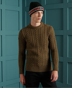 Superdry Cedar Moss Jacob Cable Crew Jumper - M6110038A - 3UI