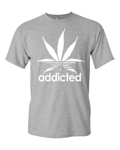 Addicted White Leaf T-shirt