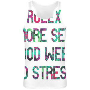 Rolex More Sex Good Weed No Stress  Sublimation Tank Top T-Shirt For Men