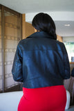 Put A Ring On It Faux-Leather Moto Jacket