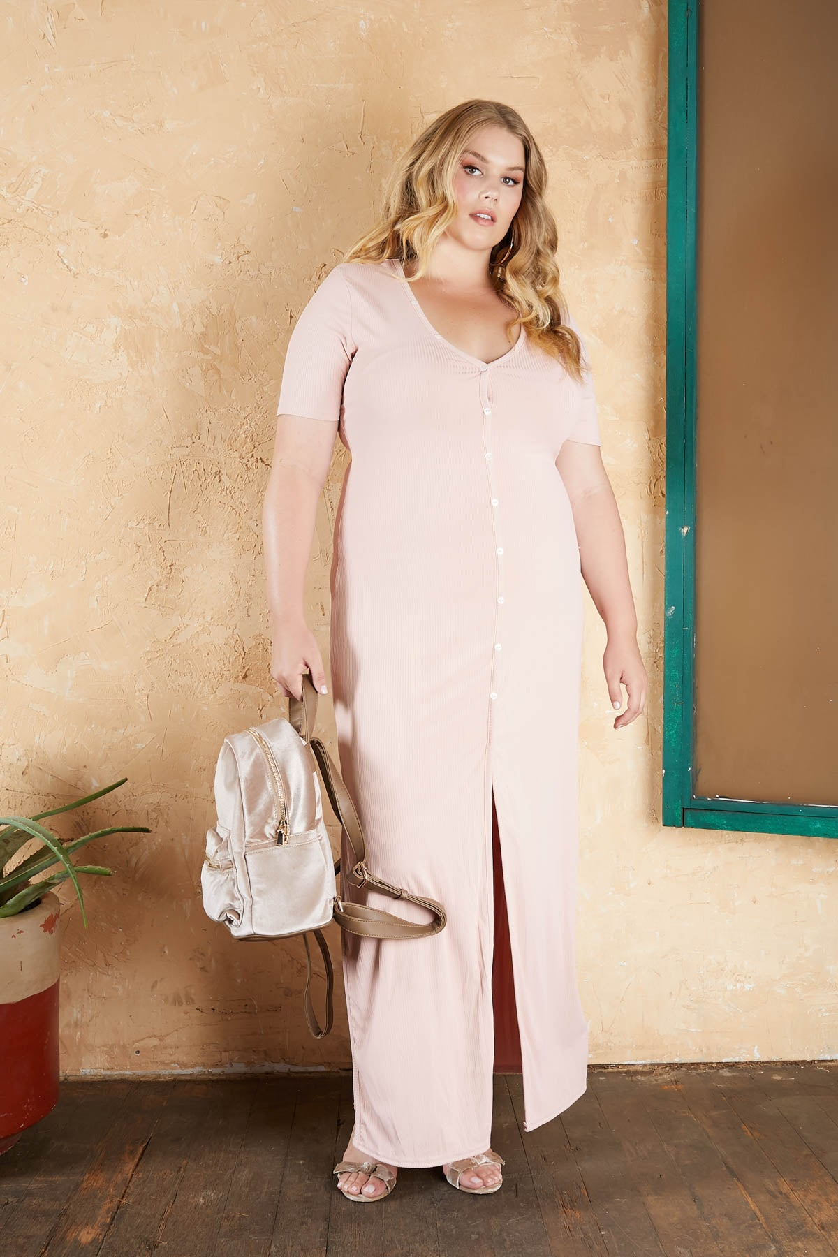 Right On The Button Maxi Dress