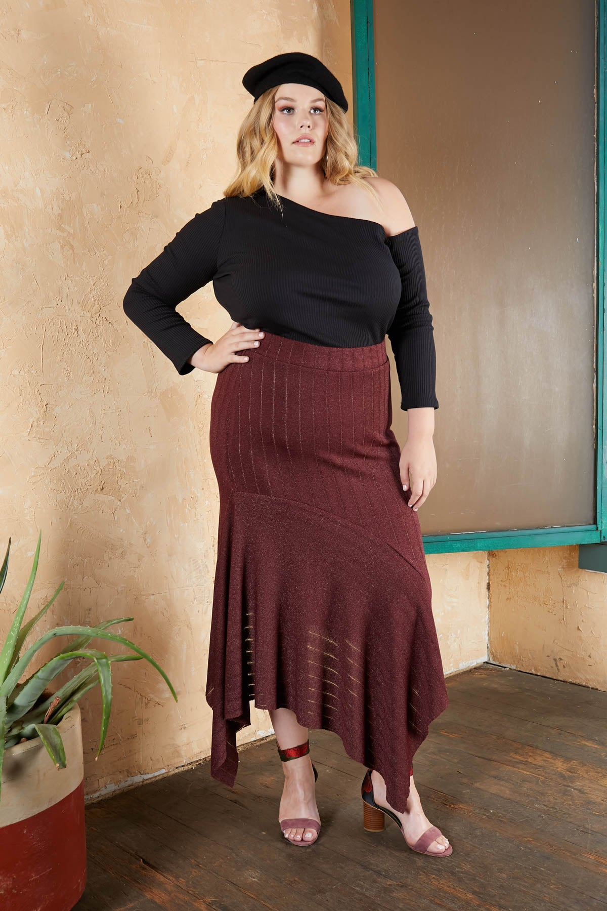 Flowing Into Fall High Waisted Skirt