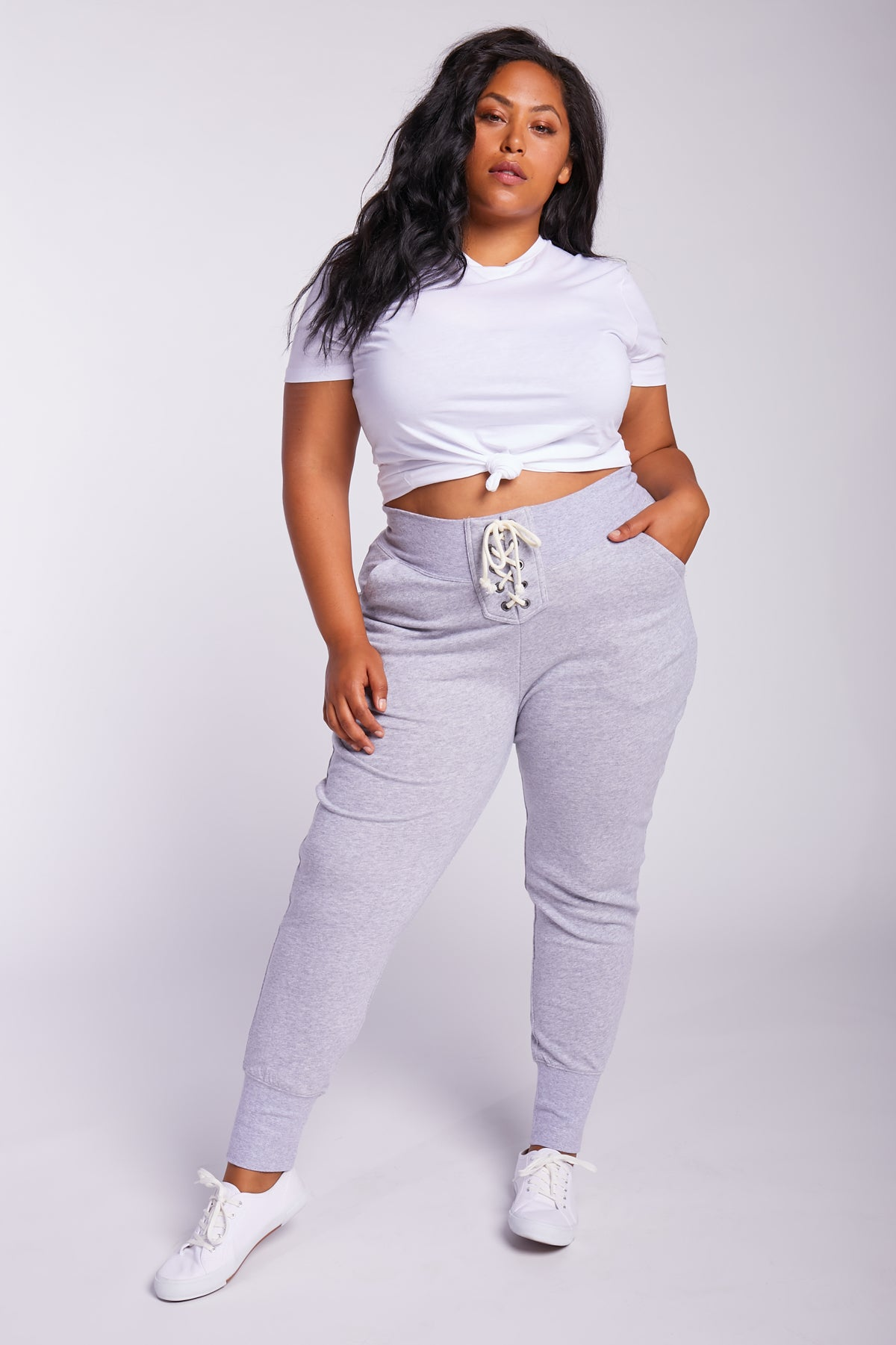 Lazy Sunday Lace-Up Sweatpants