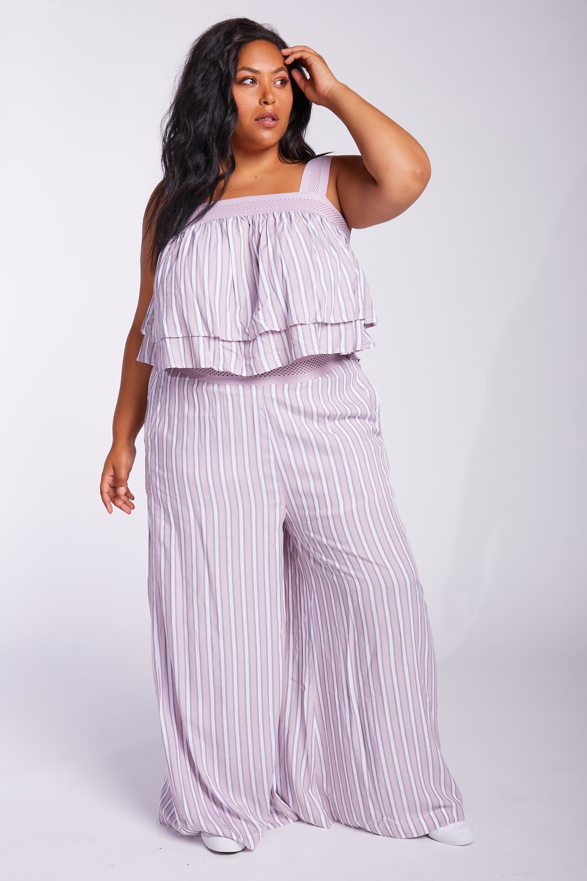 Stripe Right On Me Wide-Leg Pants