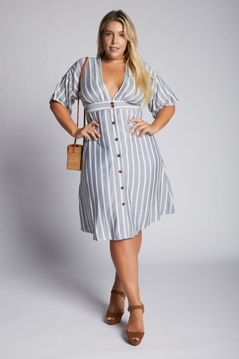 Walk The Line Striped Dress