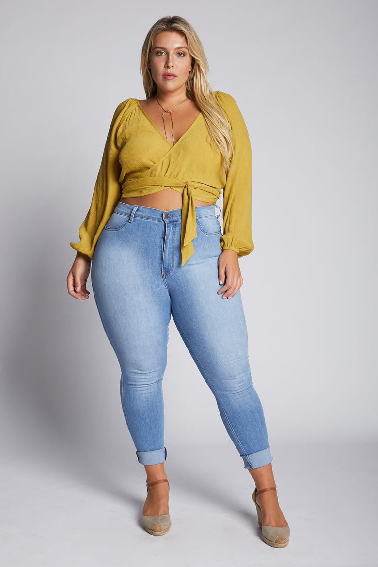 Cut The Mustard Wrap Top