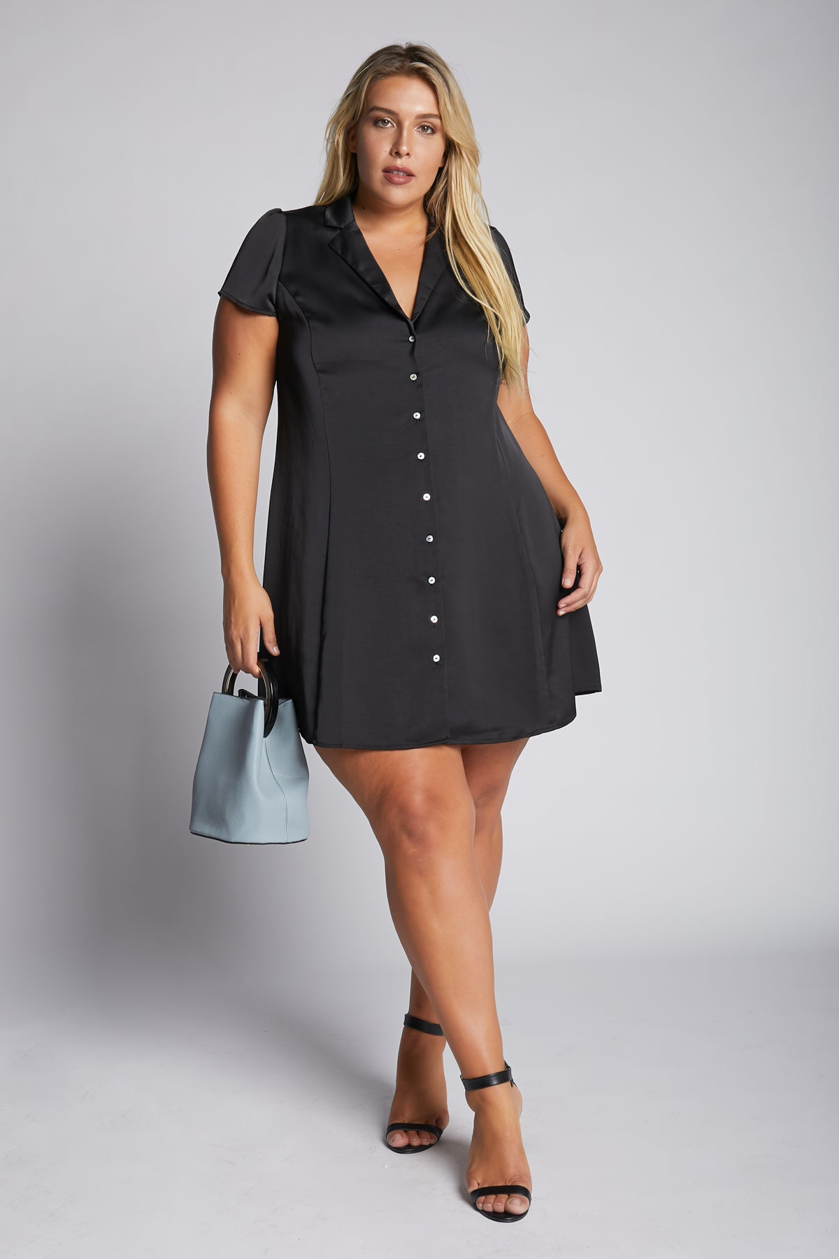 Push Your Buttons Mini Dress