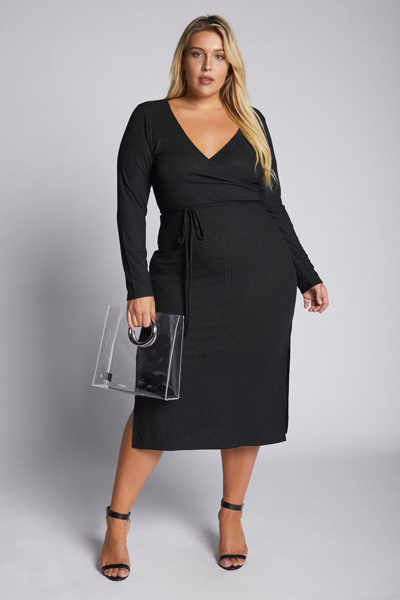 Back In Black Midi Dress