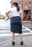 Stripe Right On You High Waisted Pencil Skirt
