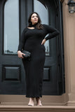 Own The Night Ribbed Long Sleeve Maxi Dress