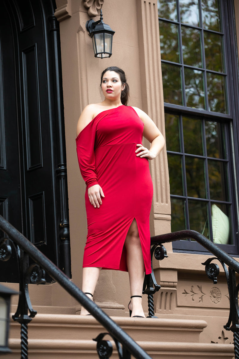 Paint The Town Red Midi Dress