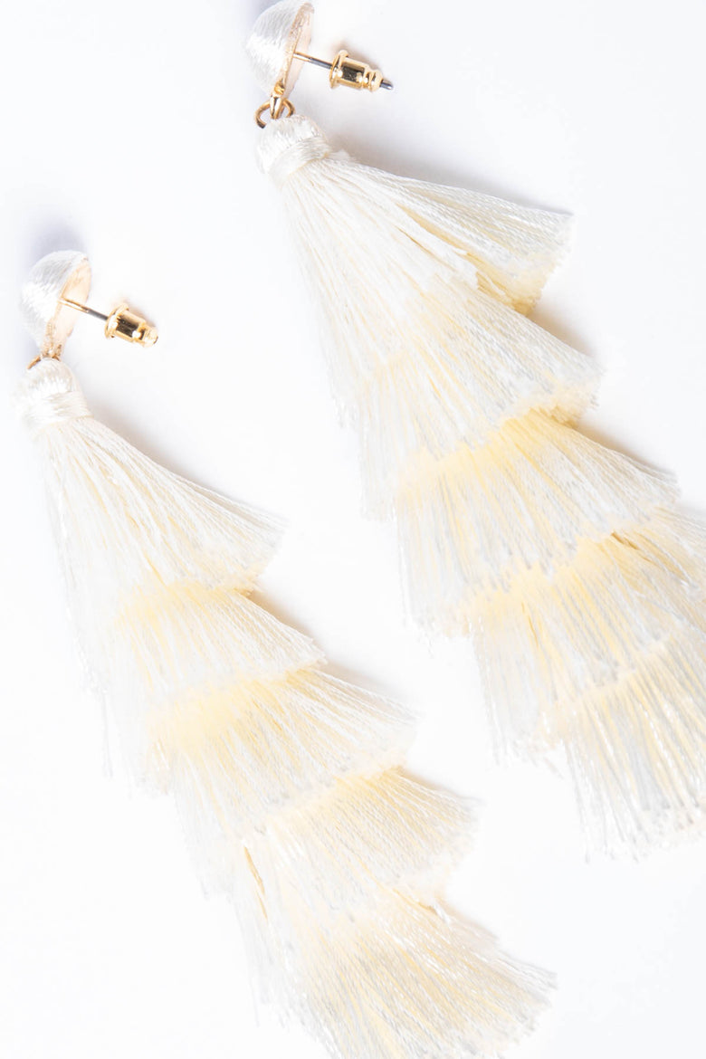 Dust off Your Shoulder Tassel Earrings