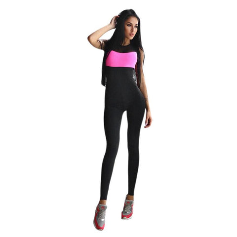 Newest 2017 Fashion Jumpsuit Women Workout Active Wear Fitness Stretch Pants High waist Slim Women Jumpsuits#LSIN
