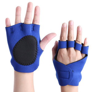 1 Pair Anti-skid Breathable Half Finger Gym Gloves Body Building Training Sport Dumbbell Fitness Exercise Weight Lifting Gloves