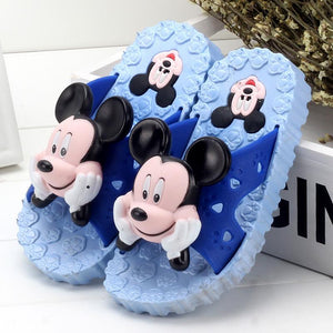 Children's slipper Summer Boys Girls shoes Cartoon Mickey PVC Bathroom Non-slip Soft Home Shoes Kids-parent Indoor Outdoor 24-40