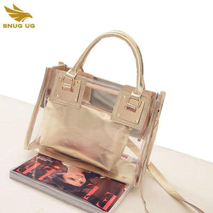 Transparent PVC Beach Bag 2017 Hot Special Offer Popular Composite Bags Fashion Clear Purses Handbags Bolsas de Praia Femininas