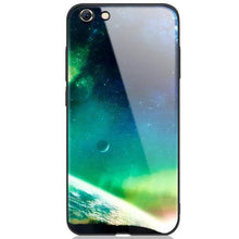 MaxGear Star Space Tempered Glass Case For Iphone X 8 7 Plus 6 6S Soft Edge Skin Cover Shockproof Glass Slim Capa for iPhone6S